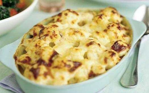 خوراک گل کلم با پنیر