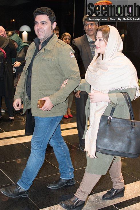 عکس مصطفی کیایی و همسرش در اکران فیلم نیمه شب اتفاق افتاد