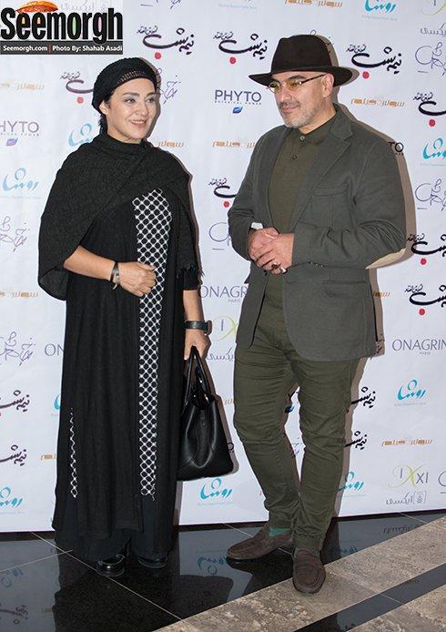 عکس رویا نونهالی و همسرش در اکران فیلم نیمه شب اتفاق افتاد