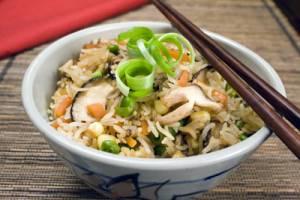 برنج با قارچ شیتاکه