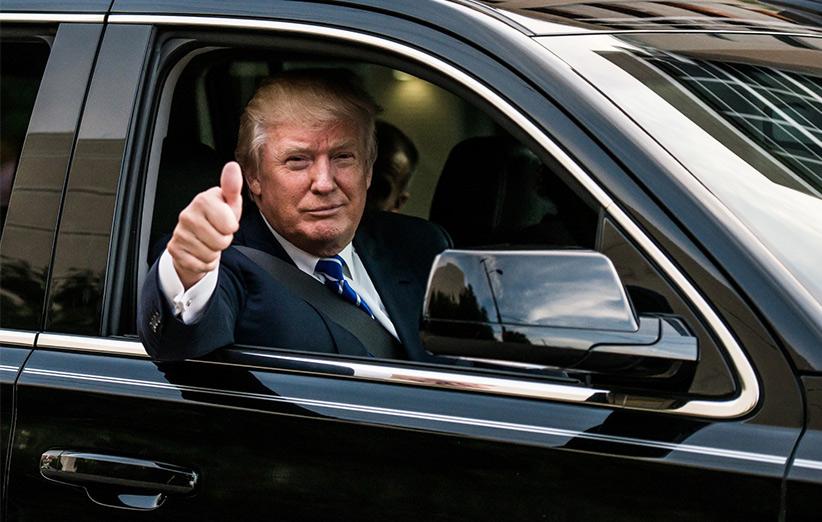 نگاهی به خودروهای گران قیمت دونالدو ترامپ رئیس جمهور آمریکا + تصاویر