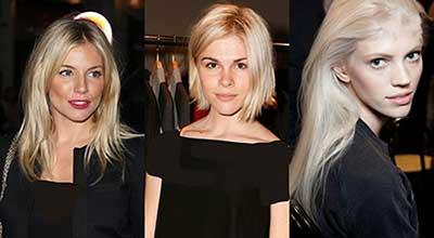 رنگ مو بلوند سفید