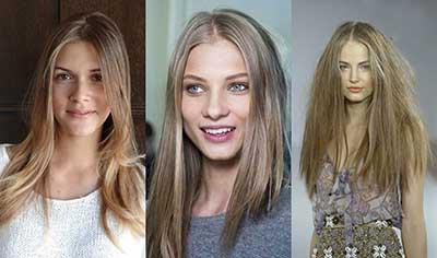 رنگ مو بلوند شنی