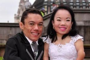 عکس قد کوتاه ترین زن و مرد دنیا که با هم ازدواج کردند!