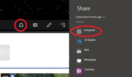 چگونه عکس ها را از کامپیوتر (ویندوز 10) در اینستاگرام قرار دهیم؟