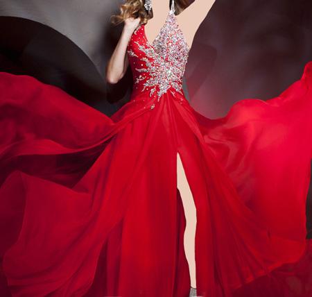 تصاویری از جدیدترین و شیک ترین لباس های مجلسی قرمز رنگ