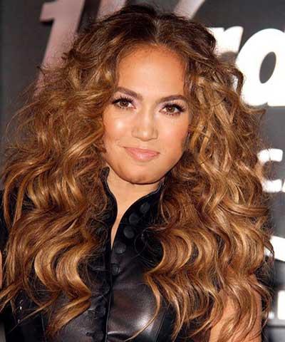 مدل مو موج دار جذاب به سبک جنیفر لوپز و مدل موهای موج دارش