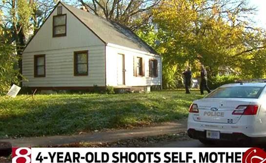دختر بچه 4 ساله با تفنگ به سر مادرش و خودش شلیک کرد! + عکس