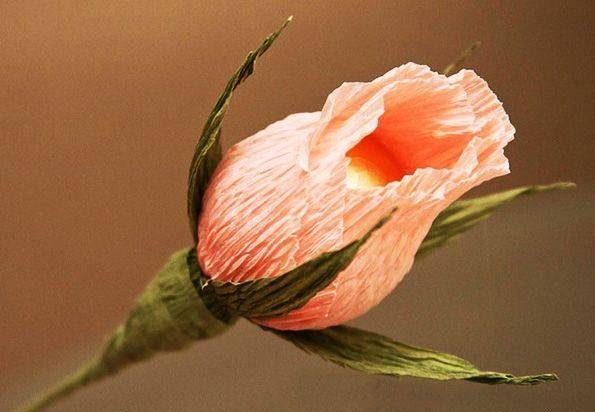 دسته گل زیبا با کاغذ کشی