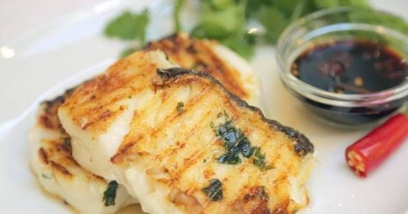 کباب ماهی با سس زنجبیل