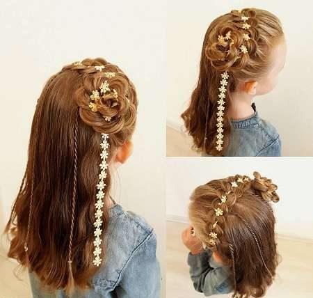 مدل موی بافته شده بچه گانه دخترانه بسیار زیبا