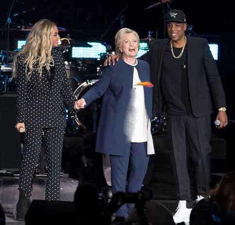 هیلاری کلینتون در کنسرت بیانسه