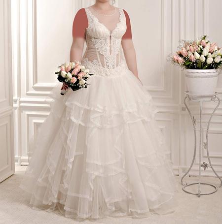 گالری عکس های مدل لباس عروس سایز بزرگ