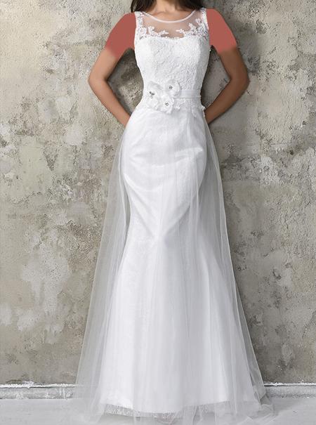 لباس مجلسی سفید بلند