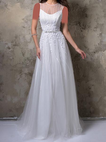 مدل لباس مجلسی سفید 2017