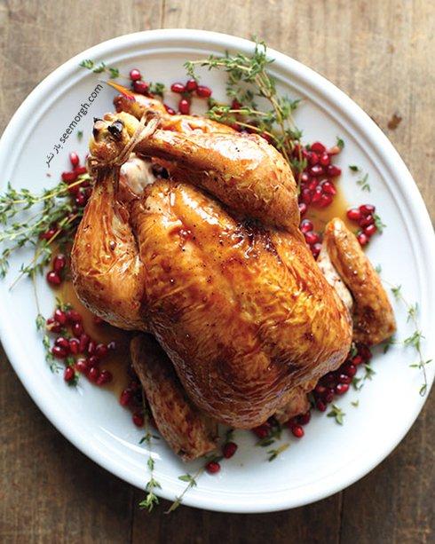 طرز تهیه مرغ بریان با سس انار غذایی فوق العاده برای شب یلدا