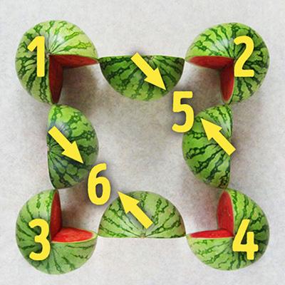 تست هوش جالب : چند هندوانه در عکس مشاهده می کنید؟