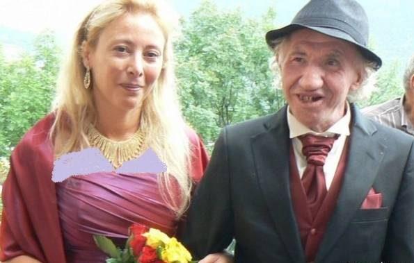 زن جوان با پیرمرد زشت ازدواج کرد که باعث شد پولدار شود! + عکس زن و پیرمرد