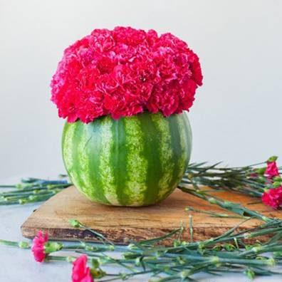 روش ساخت گلدان از پوست هندوانه