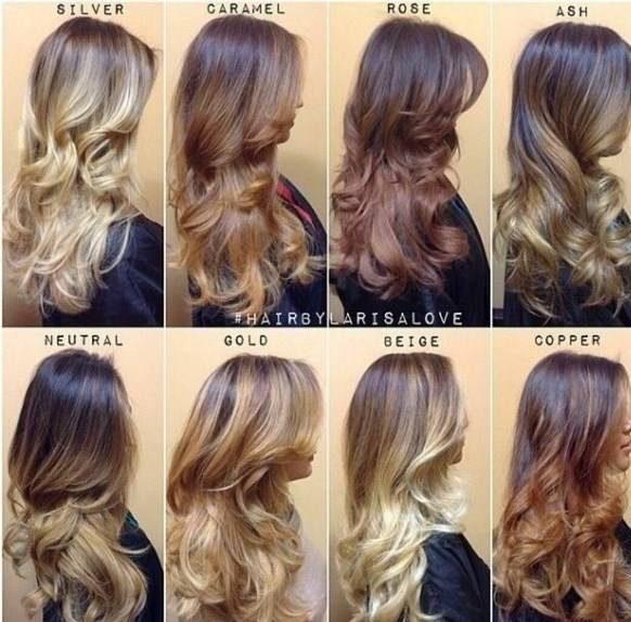 الگوی انواع مدل رنگ موی آمبره