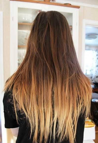 رنگ موی آمبره قهوه ای کارملی