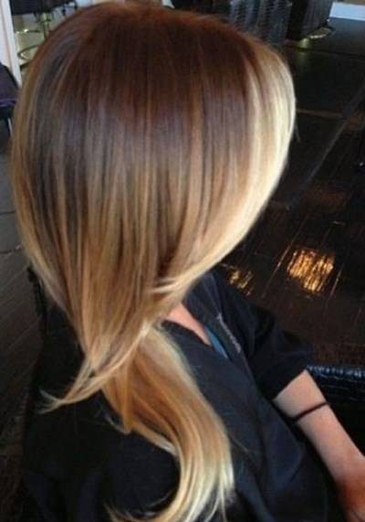 رنگ موی آمبره بلوند زیبا