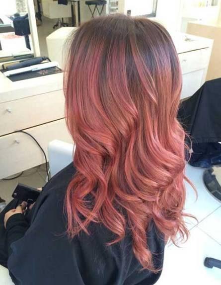 رنگ موی آمبره انگوری