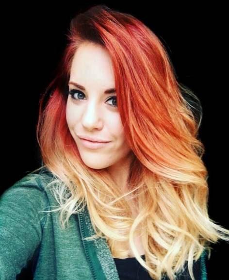 رنگ موی آمبره نارنجی و مسی به سمت بلوند