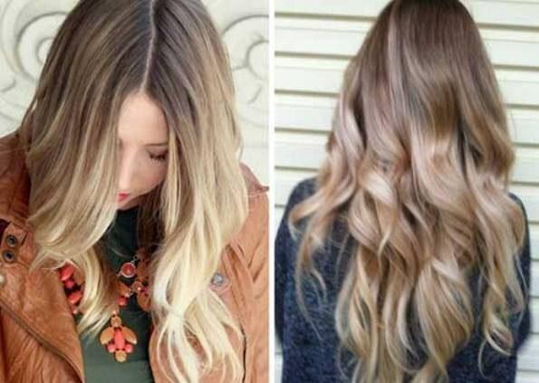 رنگ موی آمبره روشن دخترانه
