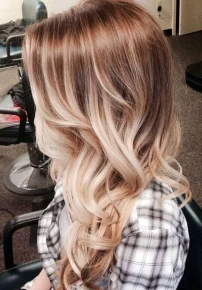رنگ موی آمبره روی رنگ موی قهوه ای