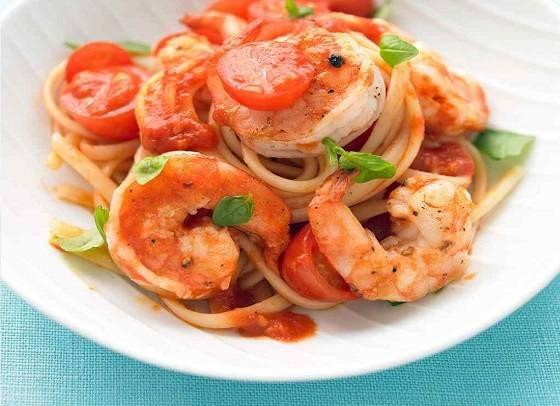 اسپاگتی میگو و کدو