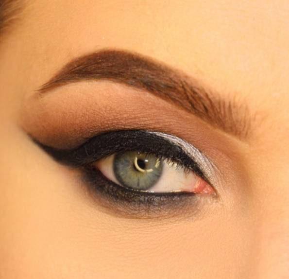 مدل آرایش چشم به رنگ متالیک