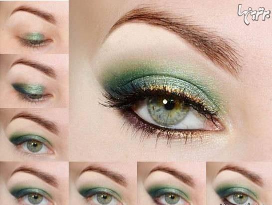 مدل های آرایش چشم مرحله مرحله 2017 مخصوص جشن