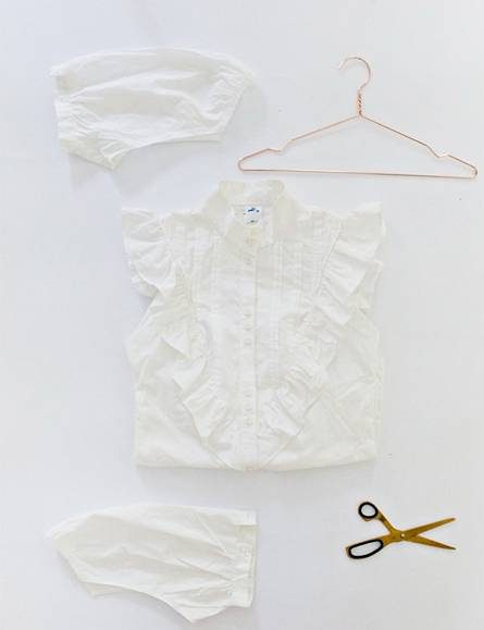 روش تبدیل پیراهن قدیمی به تاپ