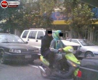 عکس دو دختر موتورسوار دزفولی که پس از چند ساعت دستگیر شدند!