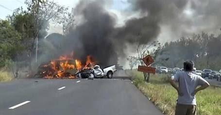 عکس های پربیننده ترین صحنه تصادف با کشته های زیاد در اینترنت!