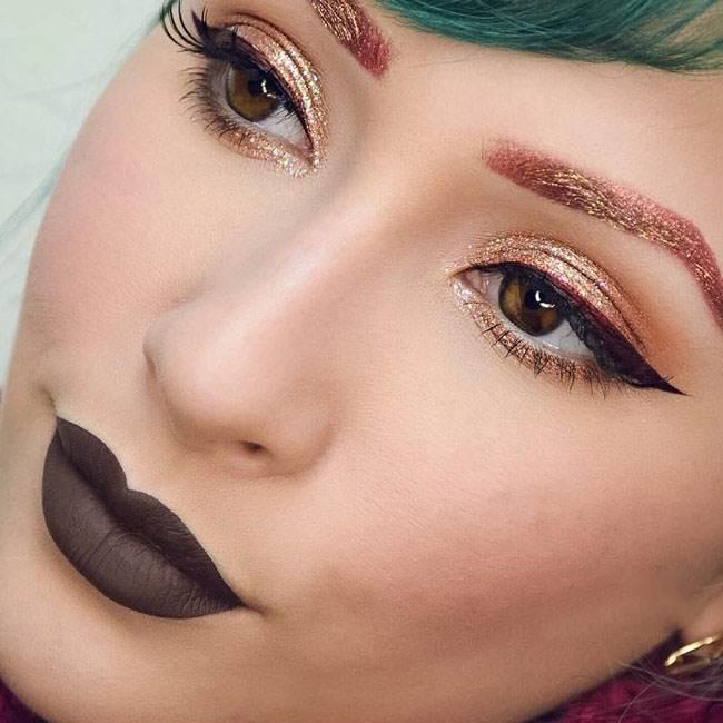 تصاویر مدل آرایش چشم و ابروی فانتزی Rosalina Young