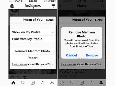 برچسب خود را از تصاویر حذف کنید