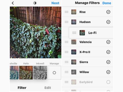 از فیلترهای تصویر استفاده کنید
