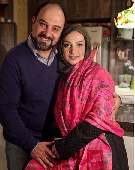 عکس برزو ارجمند و همسرش پارميس زند
