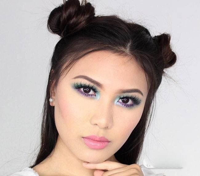 آرایش جذاب صورت و مدل موی زیبای زنانه Charmie Janee