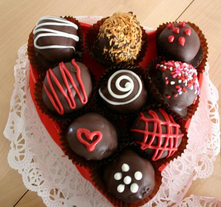 عکس هایی از تزیین شکلات ولنتاین