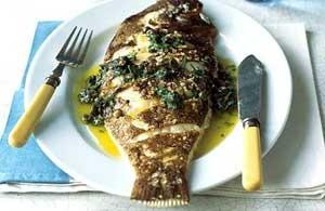 ماهی قزل آلا با سس مرزه