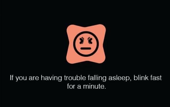 اگر برای خوابیدن با مشکل روبرو هستید به مدت یک دقیقه تند و با سرعت پلک بزنید.