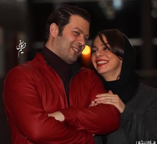 عکس پژمان بازغی و همسرش در جشنواره فجر35
