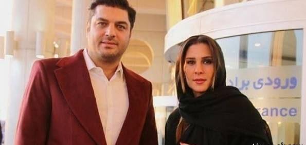 عکس سام درخشانی و همسرش در جشنواره فجر 35