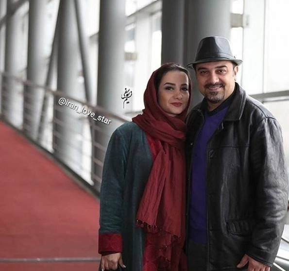 عکس برزو ارجمند و همسرش در جشنواره فجر 95