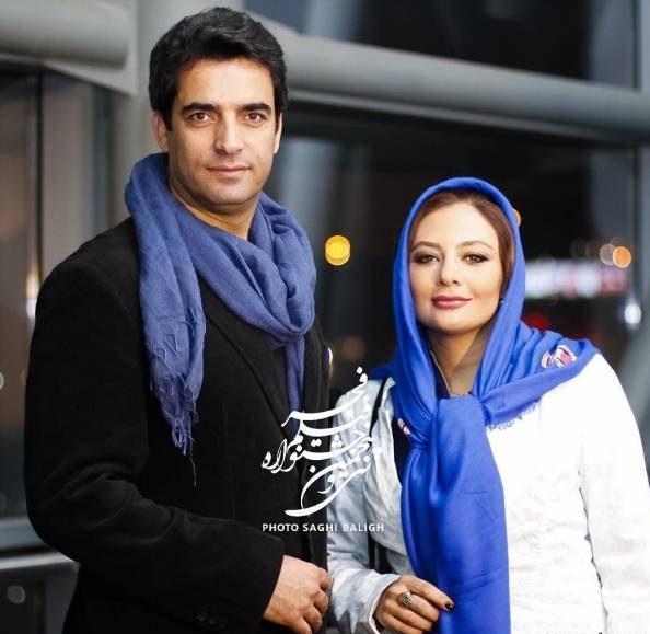 عکس یکتا ناصر در کنار همسرش منوچهر هادی در جشنواره فجر 35