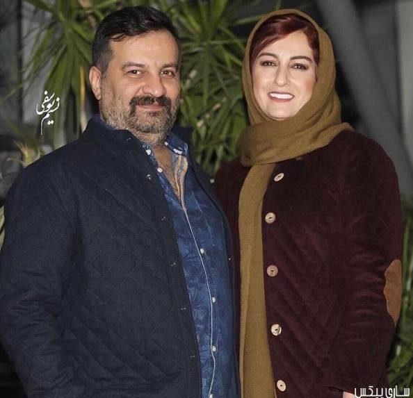 عکس شقایق دهقان و همسرش در جشنواره فجر 35