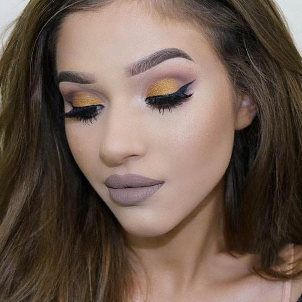 مدل آرایش زیبا برای زنان و دختران با پوست گندمی